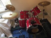 Pearl Export Full Drum Kit with extras