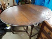 Antique Gate-leg Oak Oval Dining Table