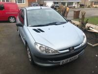 SPARES OR REPAIR PEUGEOT 206 2004 with private plate/reg