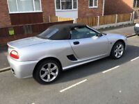 MG TF.1.6L Petrol. 2004. Soft top convertable .Manual. Silver. 68267 Miles.