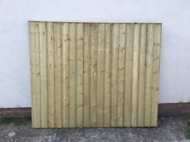 Heavy Duty High Quality Straight Top Wooden Garden Fence Panels 🌳