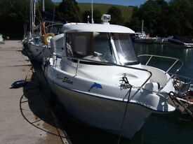 QUICKSILVER PILOTHOUSE 640 -LOW HRS--GOOD CONDITION --UPGRADES- BUNK/ROLLER TRAILER & LOADS OF GEAR