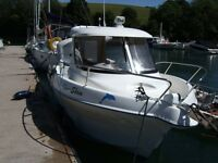 QUICKSILVER 640 PILOTHOUSE-FISHING BOAT WITH TRAILER