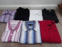Job lot of Mens smart button long sleeve shirts size L