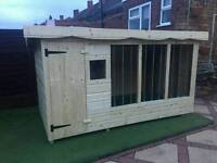 Brand new extra large dog kennel and run with Galvanised bars