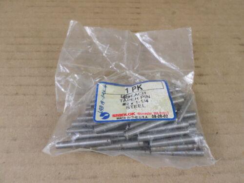 Lot of 45 Stanlok #2 x 1-1/4 Steel Taper Pins