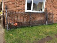 Iron gates galvanised