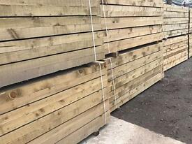 🌳WOODEN PRESSURE TREATED RAILWAY SLEEPERS ~ NEW