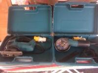Makita 110v jigsaw and grinder