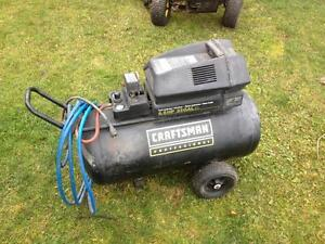 Compressor 220v 6.5hp twin cyl. 33 gal