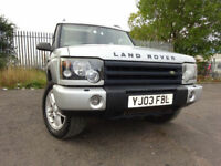 03 LAND ROVER DISCOVERY TD5 ES 2.5 DIESEL *7 SEATER*4X4,MOT MARCH 018,PART HISTORY,RELIABLE 4X4,