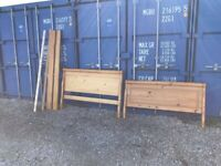 Luxury Double Wooden Solid Bed & Thick Mattress Clean Condition. (Local Pick Up Only)