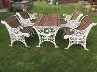 Cast iron vintage garden furniture