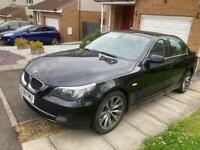 Black BMW 520d SE 6 speed manual