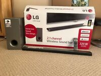 LG 2.1 Channel Wireless Soundbar with Subwoofer