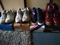8 Pairs trainers/boots