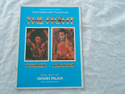 Marvin Hagler Thomas Hearns The Fight Boxing Program 1985 Las Vegas