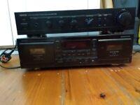 Denon PMA-250III Amplifier & Double Tape Deck DRW-580