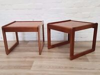 Pair Of Mid-Century Side Tables (DELIVERY AVAILABLE)