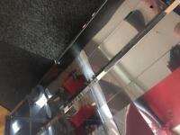 3 door mirrored chrome cabinet