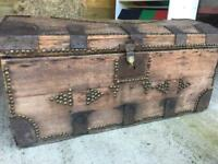 Vintage Wooden Shipping Trunk