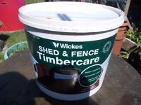 wickes shed & fence timbercare treatment/paint dark brown 12L