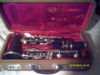 A B flat CLARINET with MOUTHPIECE & in a CASE , IF YOU HAVE ALWAYS FANCIED a CLARINET ?