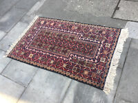 Eastern rug , good quality and condition . Size 88cm x 150cm . In good colours .