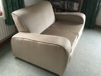 1930s Heals sofa and armchairs, re-covered and good condition