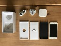 IPHONE 6 SILVER 16GB UNOPENED CHARGER/LEAD/HEADPHONES WITH BOX