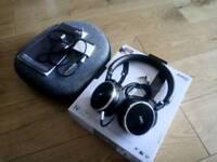 AKG N60 noise cancelling headphones + FIIO Amp + case!!