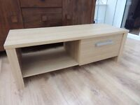 TV unit , low design , with drawer for nic nacs and shelf for sky box/dvd etc