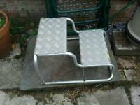 Caravan motorhome double step