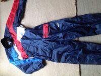 One piece waterproof suit