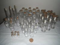 40 Mixed Glass Bottles for Crafts Gifts Wedding Decorations