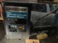 Workshop 1400 w pressure washer hardly used