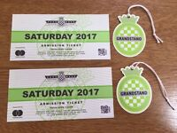 Goodwood Festival of Speed:Entry/Grandstand - Saturday 1 July 2017, two tickets. Gates open 7.00am.