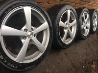 "As New 17"" alloy wheels +as new winter tyres Ford Transit Connect 5x108 Focus Mondeo Volvo CAN POST"