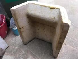 Cement Fireplace back