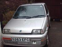 FIAT CINQUECENTO SPORTING 1998: SILVER FOR SPARES OR REPAIR