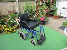 wheelchair like new excellent condition folds for traveling