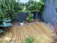 High Quality Decking Kit 2.4M Square Including Base all Treated / Stained, Just 3 Months Old.