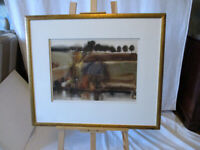 Vintage Very Large Framed Watercolour by BB Neilson. 'Trees'. 1968