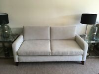 2/3 Seater Cream Fabric Sofa