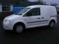 Vw caddy 2008, 1900cc 104bhp van. side door . electric windows .no vat,,