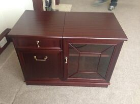 Morris dark wood hi-if/ tv cabinet.