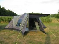 Outwell Hartford Plus Family Tent Sleeps Up To 8 in Green and Grey