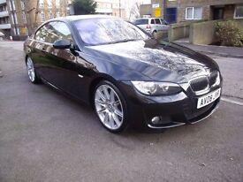 BMW 330i COUPE M SPORT 272 BHP 2008 YEAR 6 SPEED MANUAL 139K FSH LOOKS & DRIVES LIKE 50K P/X WELCOM