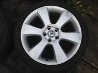 Set of four 18 inch alloys c/w tyres - suit Skoda, Seat and VW derivatives