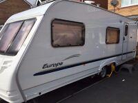 Sterling Europa 600 6 berth twin axle touring caravan